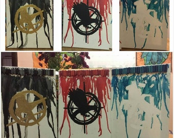 The Hunger Games Trilogy crayon art