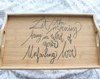 Custom breakfast tray