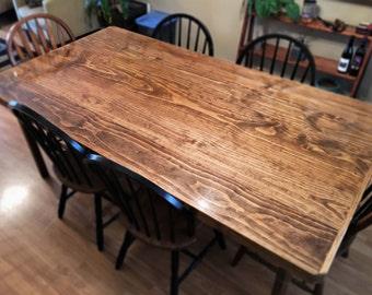 Saginaw Flat-sawn Pine Dining Table