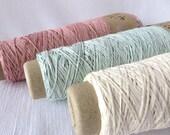 Cotton Gima /  Cotton Tape / Modern Art Thread / Warp Yarn / DIY Embroidery / Textile Yarn / Knitting / Crochet / Yarn for Weaving Habu A174