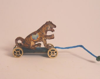 Miniature 1:12 Scale Tiger Pull-Toy KIT