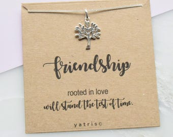 Tree Of Life Necklace Friendship Gift, Tree of Life - Silver Tree - Tree of Life Jewellery - Friend Gift - Best Friend