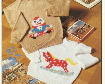 Childrens Jumper  Knitting Pattern.