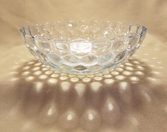 Vintage Blue Bubble Glass Anchor Hocking Serving Bowl