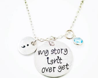 Project Semicon Handstamped Charm Necklace
