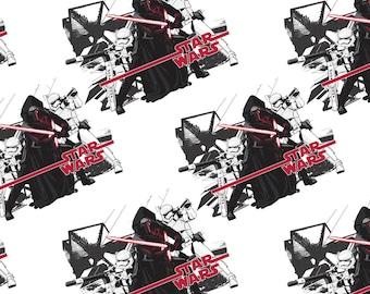 White Star Wars Force Awakens Cotton Fabric