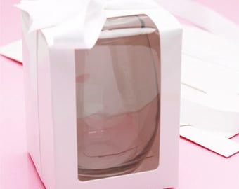 35 pcs White Gift Box  for Stemless Wine Glass (9oz) MIC-FJN90Z