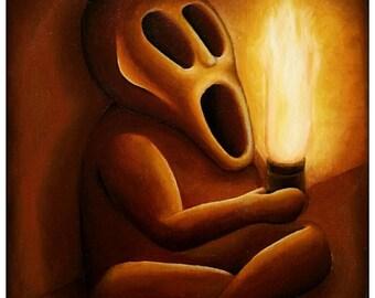 Gemälde »Traumfigur« (Öl auf Leinwand, 30,0x40,0 cm)