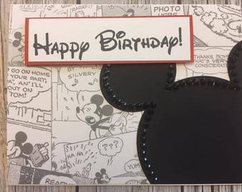 MIckey Mouse Card ~ Birthday Card ~ Disney Card ~ Mickey Mouse ~ Disney ~ Happy Birthday
