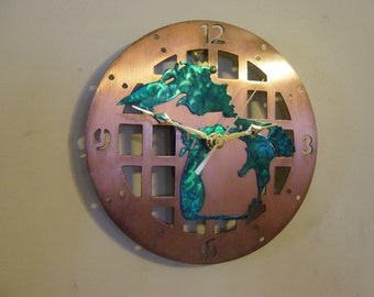Michigan Metal Art Clock - Kaliseum