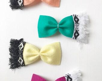 Boho Hair Bow - Tribal Hair Bow - Boho Headband - Boho Baby - Gift for Her