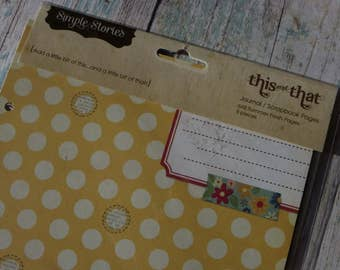 Simple Stories, Summer Fresh Collection Journal / Scrapbook Pages, This and That, 8 Double Sided Heavy Weight Cardstock Pages, 6 x 8 Inches