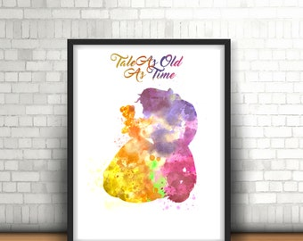 Art Print Beauty And The Beast Inspired Home Decor Collectable Item