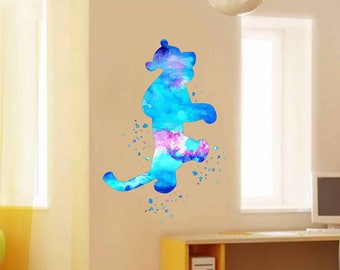 kcik1946 Full Color Wall decal Watercolor Tigger Winnie the Pooh Character Disney children's room