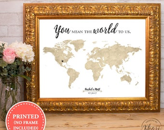 Wedding map guest book etsy world map wedding guest book you mean the world to us alternative wedding guest gumiabroncs Image collections
