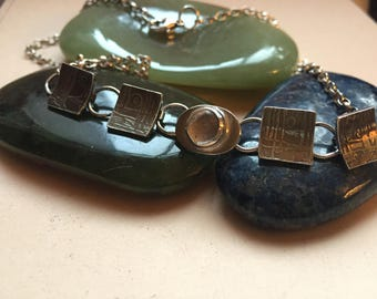 Winter necklace with moonstone