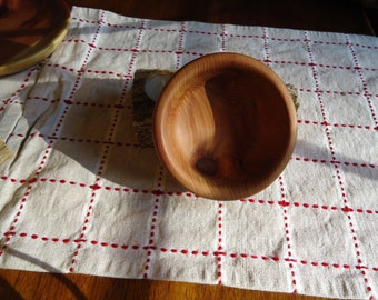 Small hand turned aromatic cedar bowl