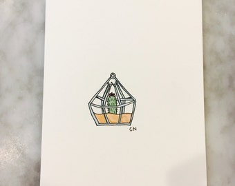 Watercolor 5-pack Succulent Stationery