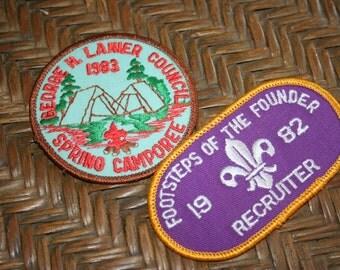 Vintage Boy Scout Patches - 1980's / Boy Scout Memoribilia / Recruiter / Spring  Camporee
