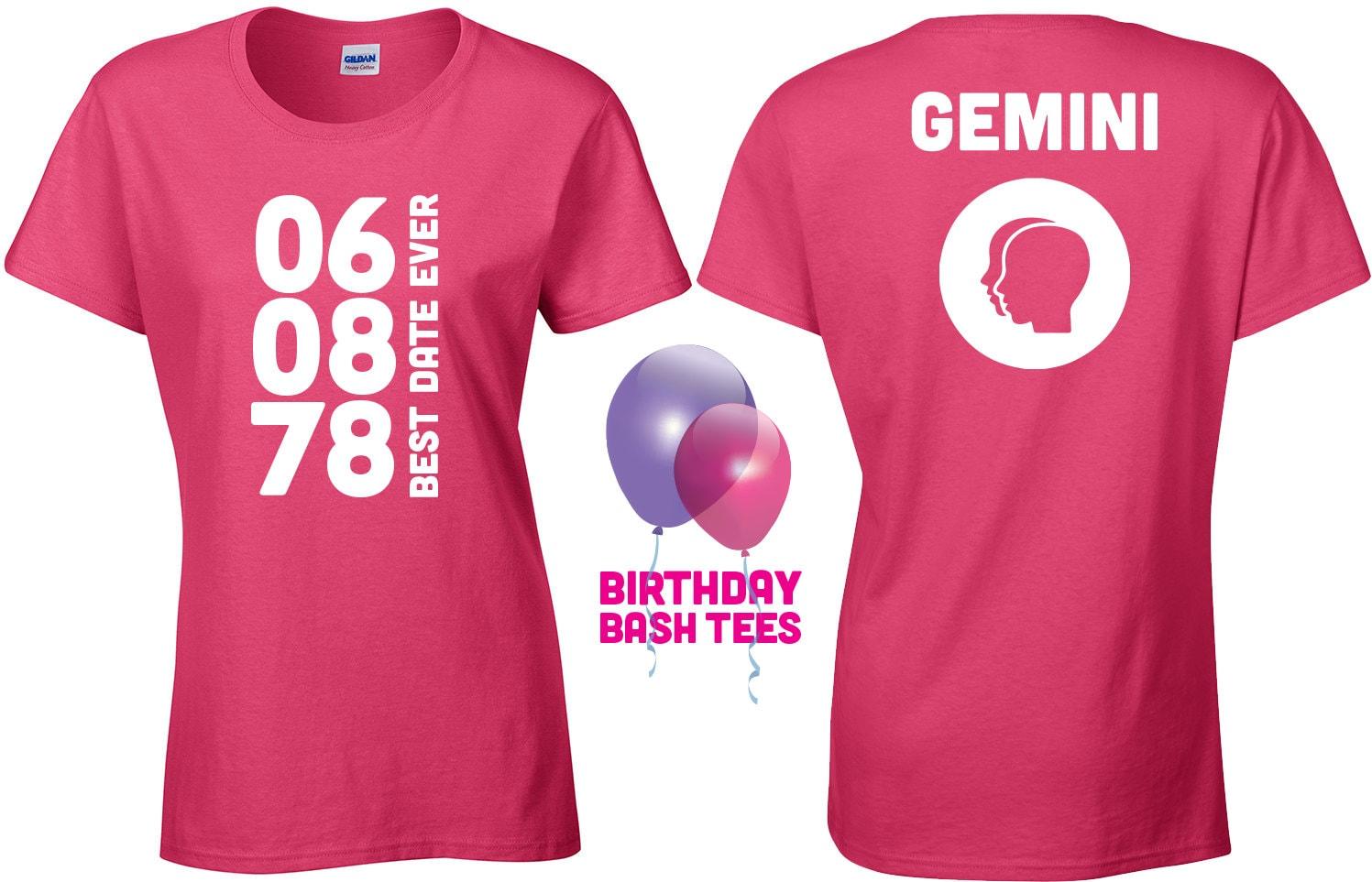 Gemini Shirt Zodiac Sign Custom Birthday Shirt, Custom Women's ...