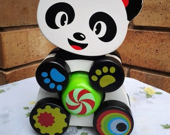 Wooden Panda Toddler Pull along Toy - reduced by 40%