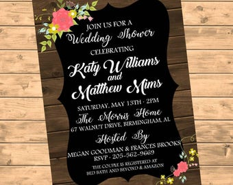 Wedding Shower Invitation DIGITAL