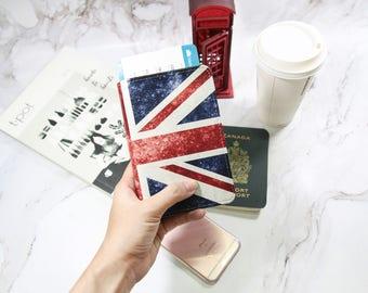 Flag United kingdom passport holder,personalized passport cover,travel accessories,passport wallet,passport cover leather,passport cover UK