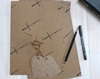 Christian Kraft Wrapping paper & Tags, Occasional, Baptism, Wedding, Confirmation, Gift Wrap - Eco Friendly