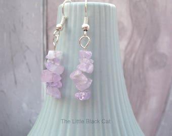 Amethyst Lilac Earrings, Gemstone Earrings, Lilac Earrings, Purple Jewellery, Dangly Earrings, Semi Precious, Womens Gift, For Her, UK SHOP