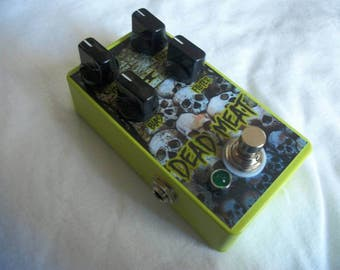 Dead Meat - Fuzz - Guitar Effect Pedal - HandMade - Silicon Face - Head Deluxe Clone