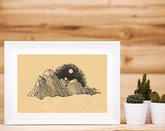 Mountain Night Print