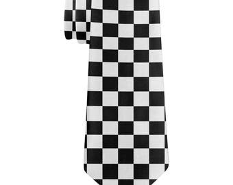 Finish Line Checkered Flag All Over Neck Tie