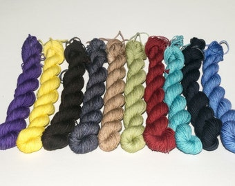 Hand Dyed Mini Skeins Available!