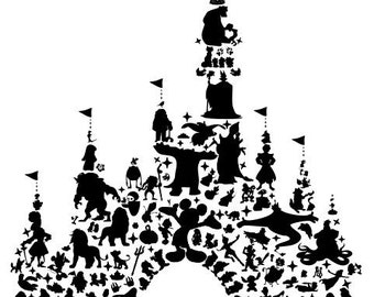 Disney castle wall decal / sticker