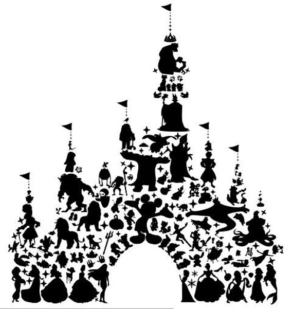 Decalque De Mur De Chateau Disney likewise Paper crane clip art furthermore Queen Crown Clipart Black And White furthermore Peter Pan Et Wendy Off Pour Tatouage in addition Hippopotamus Outline 738785. on princess silhouette