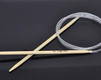 80cm circular knitting needles made of bamboo 5.5
