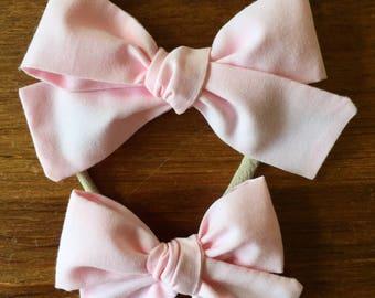 Sloane bow || Ballerina pink