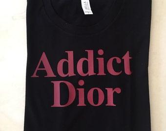 Addict Dior T-shirt 100% cotton