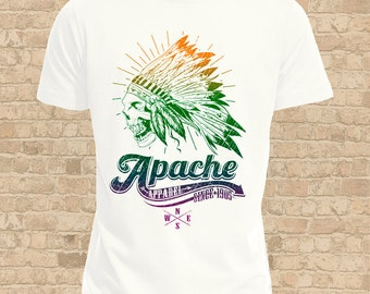 Apache  Mens T Shirt, Women Flattering Fit also available, Apache Skull Tee Shirt, Ideal Apache Gift, Tattoo