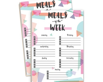 Meals of the Week Notepads