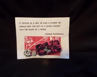 Domino Pin - Fuschia Floral