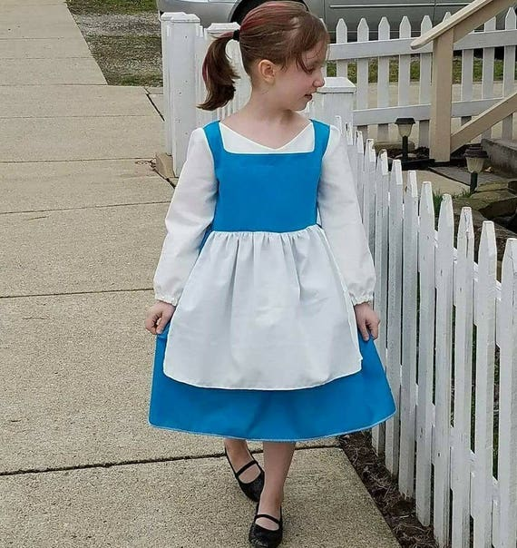 Girls 2T-8 Belle Inspired Dress, Costume, Disney Vacation Outfit, Girl Disney World clothes, Dress up play, Kids Cosplay