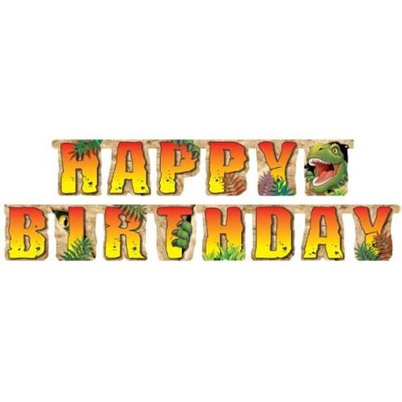 "60"" Happy Birthday Banner Dinosaur, Jurassic World"