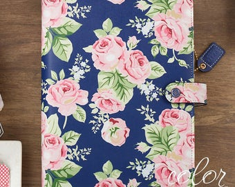 SALE! A5 Color Crush Planner Kit by Webster's Pages - Navy Floral - 12-Month Non-dated Month & Week View