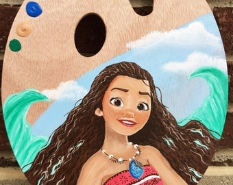 Disney moana painted palette