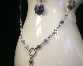 My Comfy Jeans Necklace and Earrings