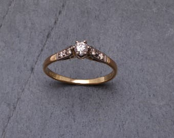 18ct gold and diamond engagement ring