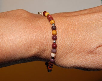 moukaite bracelet and silver