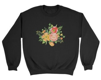 Pale Grunge Flowers Sweatshirt