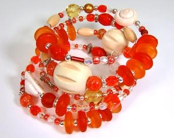 Bracelet orange natural beige coloured-mixx-DESIGN